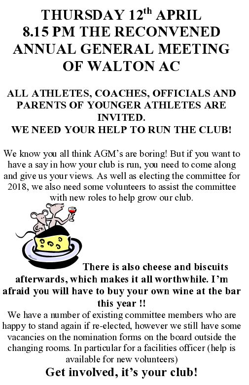 Rescheduled AGM Date